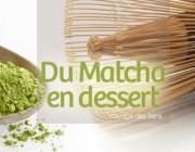Thé matcha & azukis, recette bûche de Noël