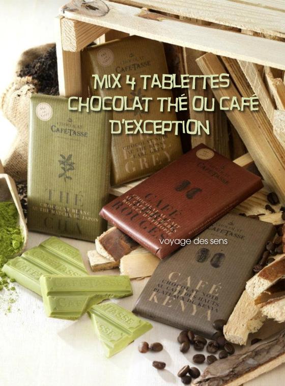 Chocolat thé matcha Earl Grey