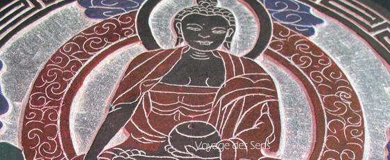 Bol chantant tibétain bouddha gravure Escale Sensorielle