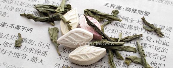 Bonbons et thé vert sencha - Escale Sensorielle
