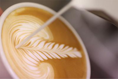 Matcha earl grey latté art Escale Sensorielle