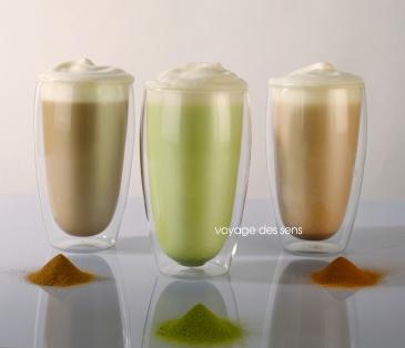 matcha rooibos earl grey latte Escale Sensorielle