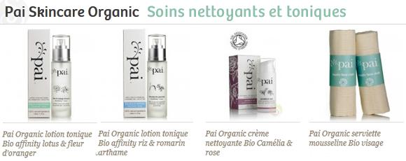 Pai cosmétiques nettoyant tonique Bio