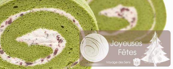 recette bûche noël matcha thé vert escale sensorielle
